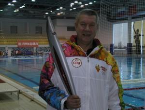 Владимир Карабутов в родном бассейне